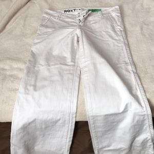 White jeans.  Relaxed fit.